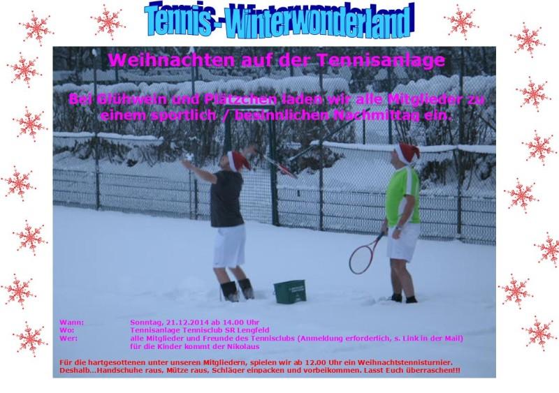 tennisspiel auf dem winterfesten platz
