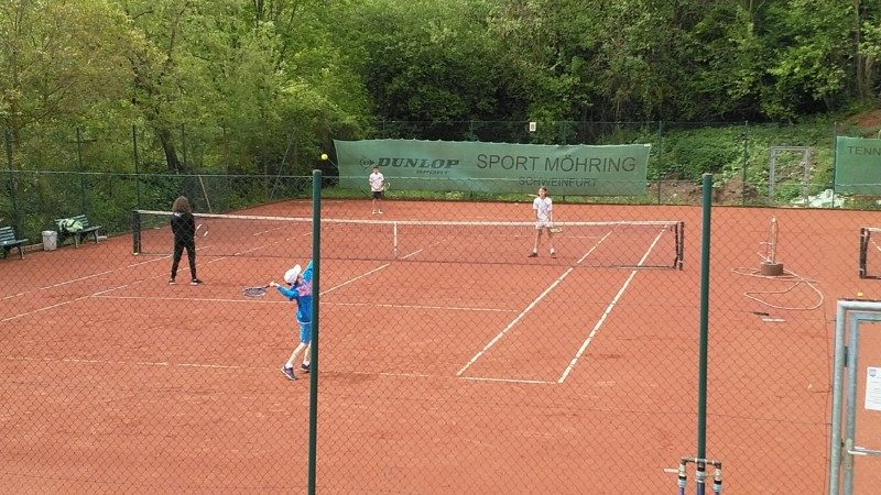 Oli und Timo im Doppel gegen TC Kitzingen